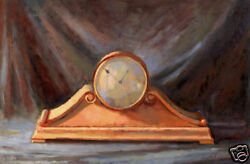 Vintage Mantle Clock Antique Wooden Clocks  20