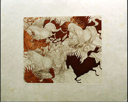 Guillaume Azoulay Suite St Ii Japon Signed Original Art Etching Paper Make Offer