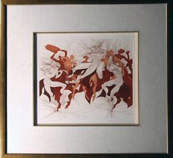 Guillaume Azoulay Simkhat Thora Hand Signed Art Etching Judaic Artwork Makeoffer
