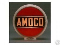 Amoco Gas Pump Globe Sign Red White Glass Lenses Gas Oil Filling Station Decor