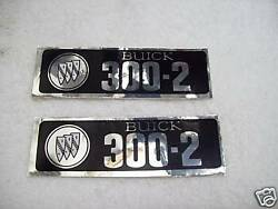1965-67 Buick Valve Cover Decal 300-2v Pr. New