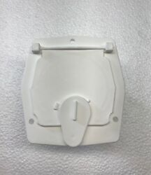 Rv Square Electrical Cable Hatch W Back White