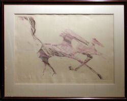 B C Nowlin Dream Of Horses Original Monotype Hand Signed Submit Your Offer