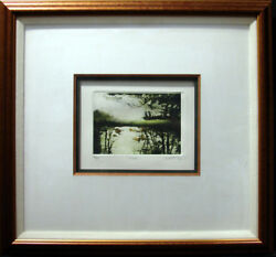 G H Rothelakeorignal Framedcolor Mezzotint Signed Artwork Tree Submit An Offer