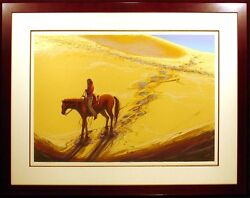 Larry Fodor Desert Pony Hand Signed Lithograph Horse Native Submit Best Offer