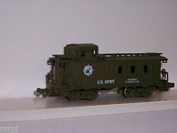 N Scale Mehano Us Army Caboose 3 Window Us Army Discounted