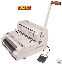 Akiles Coilmac Eci 41 Coil Binding Machine And Punch With Electric Inserter New