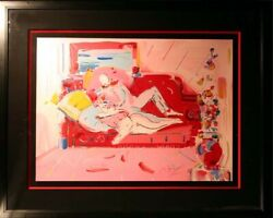 Peter Max Dega and Woman from Ioae Suite SIGNED FINE POP ART SUBMIT BEST OFFER