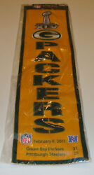 Green Bay Packers Super Bowl Champs 45 Banner Nfl New