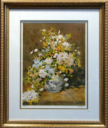 Placaze Flower Limited Edition Lithograph After Renoir Submit Best Offer