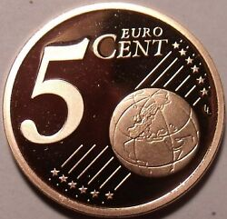 Proof Germany 2004-d 5 Euro Centsproofs R Bestfree Shipping