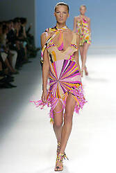 NWT PUCCI Runway 2005 FeatherCrystal Psychedelic Dress
