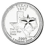 2004-p Texas Brilliant Uncirculated State Quarterfree Shippingsee Our Store