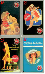 Coca Cola Sprint Series 1 Collectable 5 Phone Card Set 10-new