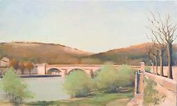 Jean-pierre Stauffer Cahors South France Signed Original Painting Artwork Obo