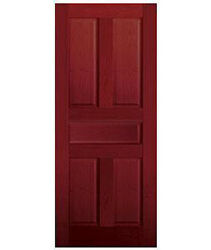 5 Panel Raised Traditional Cherry Stain Grade Solid Core Interior Wood Doors