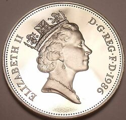 Scarce Cameo Proof Great Britain 1986 5- New Penceproofs Are Best Coinsfree Sh