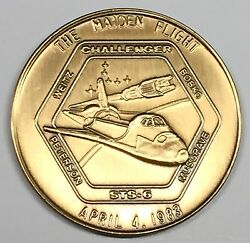 N006  Nasa Space Shuttle Coin / Medal Sts-6 Challenger Maiden Flight