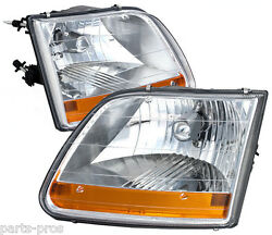 New Replacement Headlight Assy Pair / For 1997-03 Ford F150 Harley Edition Truck