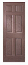 6 Panel Raised Cherry Solid Core Stain Grade Stile And Rail Interior Wood Doors