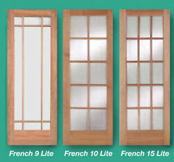 1 Lite 10 Lite Or 15 Lite Stain Grade Cherry Solid Wood French Clear Glass Doors
