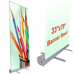 Aluminum 33x79 Retractable Roll Up Banner Stand Pop Up Trade Show Display