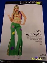 4 Pc. Peace Sign Hippie 60s Flower Child Dress Up Halloween Sexy Adult Costume