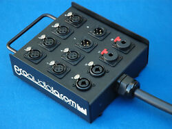 60and039 Feet 12 Channel Studio Wall Stage Floor Breakout Box Mogami And Neutrik Gold