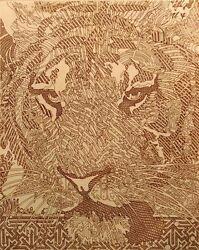 Guillaume Azoulay Az Kanamer 2001 Hand Signed And Numbered Etching Tiger L@@k
