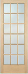 18 Lite Hemlock Stain Grade Solid Exterior Entry Or Patio French Doors Wood 8'0h