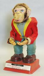 japanese rosko hy que 17 monkey tin toy c
