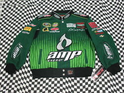 Dale Earnhardt Jr Green Amp Kids/youth Nascar Jacket Size Youth Small