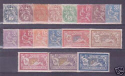 France Stamps Complete Year 1900 Yvert 107/23 Mnh Vvf Must See