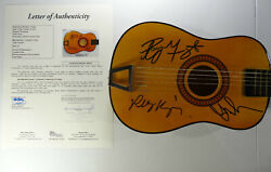 Signed The Doors Autographed Mini Guitar W/pics Certified All 3 Jsa Loa Y54176
