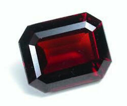 Masterpiece Collection Octagon Faceted Aaa Natural Orange Red Garnet 6x4-10x8