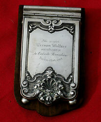1948 Silver Cover Presentation Notebook From Brazil Army To Maj Vernon Walters
