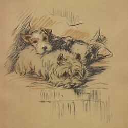 West Highland Terrier - Lucy Dawson Dog Print - MATTED