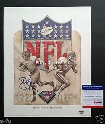 Steve Young Signed 11x14 Nfl 75th Anniversary Litho Autograph Photo Psa/dna Auto