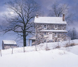 Farm Landscape Art Print - One Candle By Ray Hendershot Country Poster 32x28
