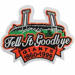 1999 San Francisco Giants Candlestick Park Closing Tell It Goodbye Jersey Patch