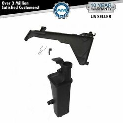 Radiator Overflow Tank And Mounting Plate Kit At A/t For Bmw 3 Series E46