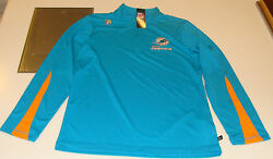 2013 Miami Dolphins Read And React Iii 1/4 Zip Pullover Jacket M Football Nfl