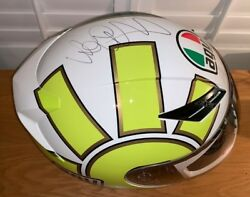 Valentino Rossi Signed 2006 Agv Gothic Helmet Unframed + Photo Proof And C.o.a