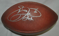 Emmitt Smith Autographed Game Used Record Football - Actual Game Used Football