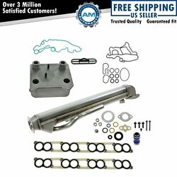 Egr And Oil Cooler Kit Set And Gaskets For Ford E350 F250 F350 F450 F550 6.0l Diesel