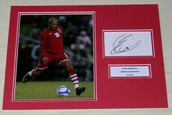 Rob Earnshaw Wales Hand Signed Autograph Photo Mount