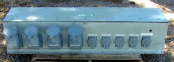 Large Penn Panel Power Distribution Panel Box + 9 Receptacles 520 Amps Of Outlet