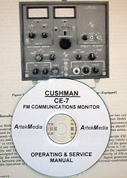 Cushman Ce-7 Fm Communications Monitor Operating And Service Manual