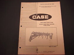 1967 Case Parts Catalog No. A860 5000 Series Chisel Plow M5000 Rear Mounted Plow