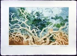 G H Rothe Oakbranches I 1988 Art Hand Signed Trees Green Limited Edition L@@k